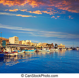 Santa Pola port in Alicante Spain