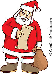 Santa reading vector