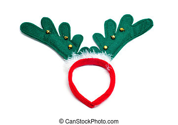 santa reindeer horns isolated on a white background
