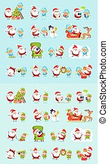 Santa, Reindeer, Snow Maiden, Ice Princess Elf Set