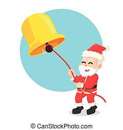 santa ring bell illustration design