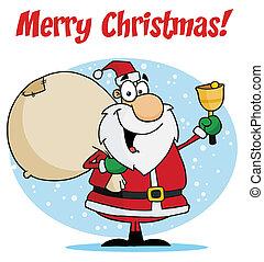 Santa Ringing A Bell