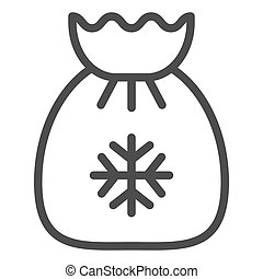 Santa s bag line icon. Xmas gifts vector illustration isolated on white. Christmas bag outline style design, designed for web and app. Eps 10.
