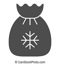 Santa s bag solid icon. Xmas gifts vector illustration isolated on white. Christmas bag glyph style design, designed for web and app. Eps 10.