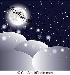 Santa s sleigh in the sky