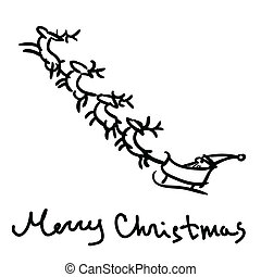 Santa s sleigh sketch