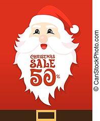 Santa Sale Card