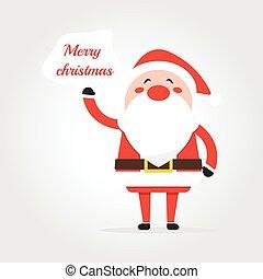 """Santa saying """"Merry Christmas """""""