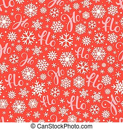 Santa says Hohoho. Red vector pattern seamless texture for ...