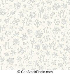 Santa says Hohoho. Vector pattern seamless texture for ...