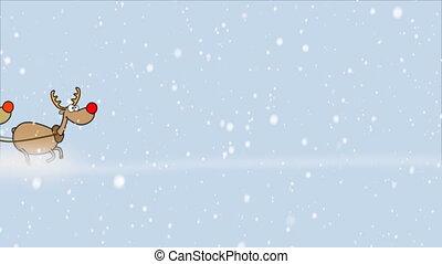 santa, schneesturm