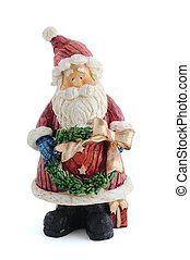santa shaped figure christmas tree