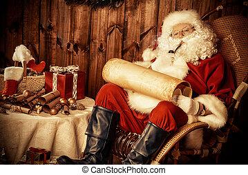 santa smokes a pipe
