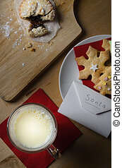 Santa Snack of Milk and Biscuits with Letter