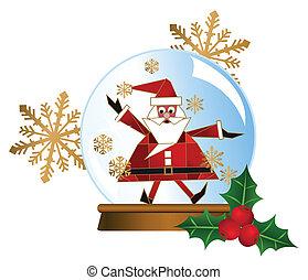 Santa Snow Globes