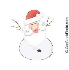 Santa Snowman Character Drawing