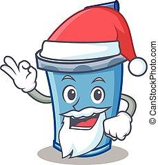 Santa soda drink character cartoon