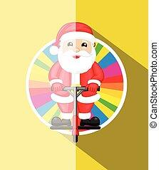 Santa Standing on Bounce Rod