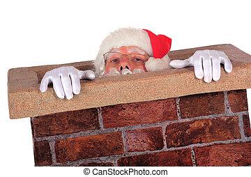 Santa Struggling