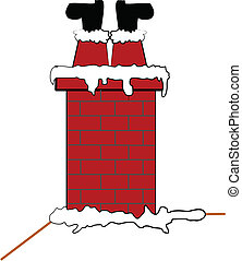 santa stuck in chimney - Santa stuck upside down in chimney...