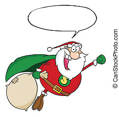 Santa Super Hero Flying - Super Santa Claus Fly With Speech...