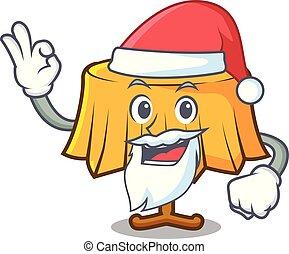 Santa table cloth mascot cartoon vector illustration