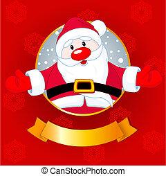 santa, tarjeta de navidad