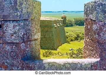 santa, teresa, fort., rocha., ウルグアイ