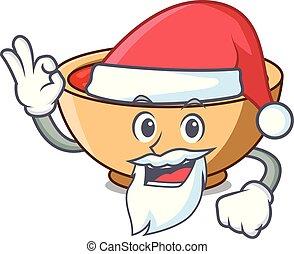 Santa tomato soup character cartoon