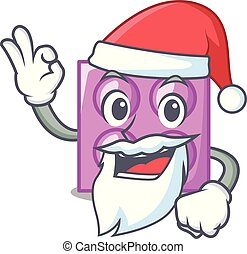 Santa toy brick mascot cartoon