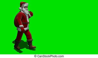 Santa walk - In drawing santa which the bag bears on a...