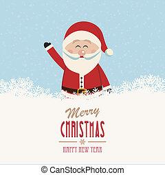 santa wave merry christmas