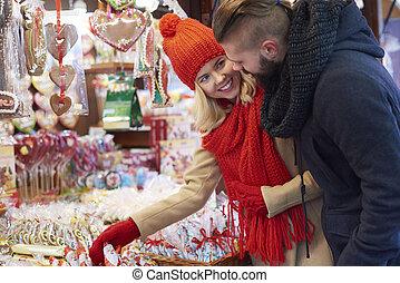 santa, weihnachtsmarkt, kakau