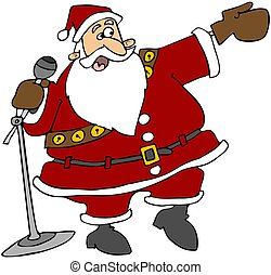 Santa With A Microphone