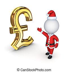 Santa with a symbol of dollar.