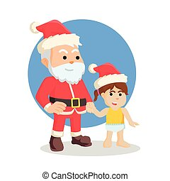 santa with baby girl