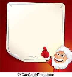 Santa with Blank List