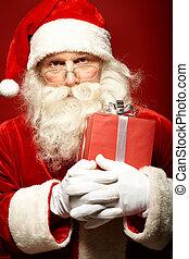 Santa with giftbox