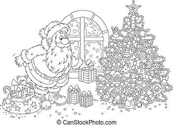 Santa with gifts - The night before Christmas, Santa Claus ...