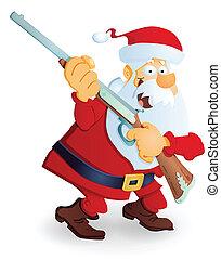 Santa with gun - Santa Claus with gun