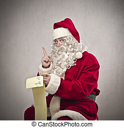 Santa with list - Santa with wish list