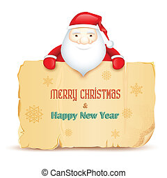 Santa with Merry Christmas message
