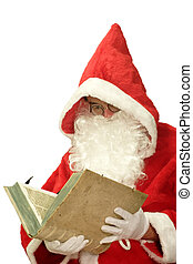 Santa with Old Book