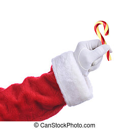 Santa with Old Fashioned Candy Cane