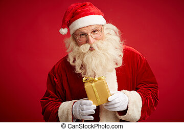 Santa with package