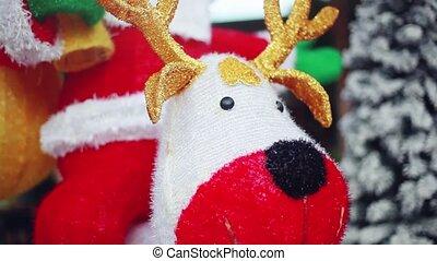 Santa with reindeer and Christmas tree. 1920x1080