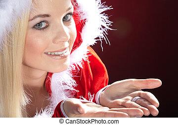 Santa woman smile