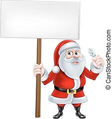 Santa Wrench Sign