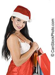 Santa xmas woman