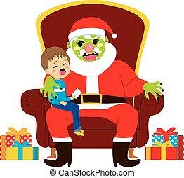 Santa Zombie With Kid